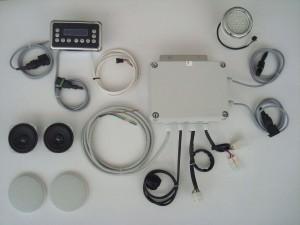 Bagno turco con radio stereo e cromoterapia