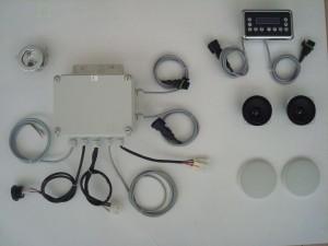 Kit elettronico per box doccia con sauna, radio stereo e lampada