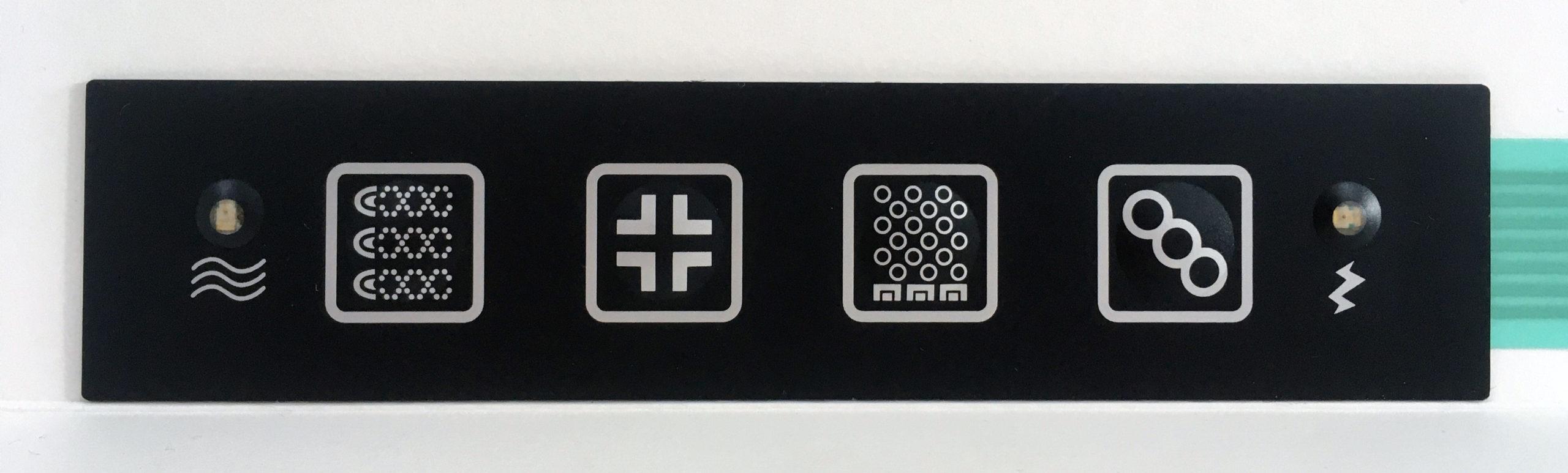 Kit whirlpool, blower, cromoterapia, clean con tastiera 'Flat'