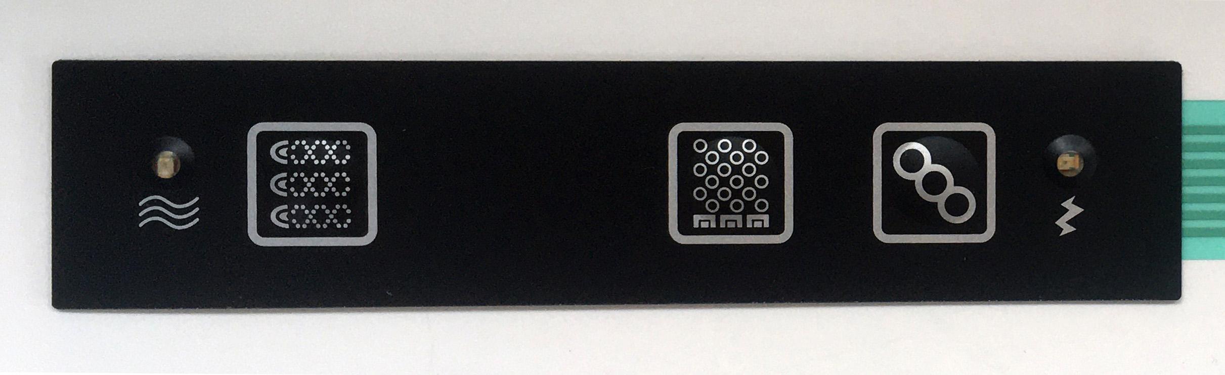 Kit whirlpool, blower e  cromoterapia con tastiera 'Flat'